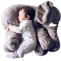 brinquedo gigante de elefante venda por atacado-Dropshipping livre 55 cm Colorido Gigante Elefante Animal De Pelúcia Brinquedo Animal Forma Travesseiro Do Bebê Brinquedos Home Decor