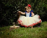 Wholesale Tutus Dresses For Babies - Halloween snow white dress for babies kids infant todler christmas party dress up custom cosplay skirts