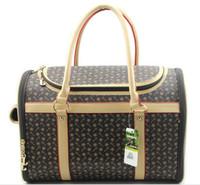 Wholesale Pet Tote Carrier Purse - Fashion Quality Portable Faux Leather Pet Dog Cat Carriers Totes Bags Handbag Purse
