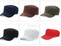 eski ordu şapkaları toptan satış-Ayarlanabilinir için klasik Kadınlar Açık Hava Düz Erkekler Şapka Vintage Ordu Güneş Kap Harbiyeli Askeri Devriye Ayarlanabilir Açık Havada Unisex Ordu Şapkalar Yaz