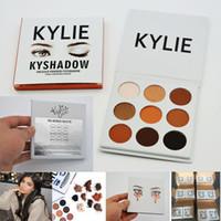 Wholesale Eye Shadow Eyeshadow Palette - 2016 Kylie Jenner Kyshadow eye shadow Makeup Palette Cosmetic Matte Eyeshadow pressed powder Bronze eye shadows 9Colors Free Shipping