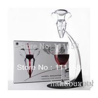 Wholesale Low Price Wine Aerator - Lowest Price 80 Sets Deluxe Magic Wine Aerator Decanter Tower, Portable Angel Wine Bottle Decanter Glass Fedex UPS Free Shipping 0419xx