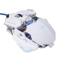 ratón vista al por mayor-Combaterwing Gaming Mouse Optical USB Wired Programmable 10 botones RGB Breaking LED Ratones para Windows XP / Vista / Windows 7 / Mac OS