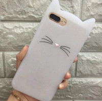 Wholesale 3d Iphone Accessories - 3D Soft Silicone Phone Case Cover Lovely Glitter Cat Cover For iPhone 6S 7 8 Plus X SE 5S Case Accessories goophone x