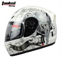 Wholesale Electric Motorbikes - Fashion Tanked Racing Full Face Motorcycle helmet with bib electric bicycle motorbike helmets made of ABS Size M L XL XXL