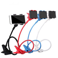 Wholesale Tablet Long Holder - New 360 Degree Roating Flexible Phone Holder Stand For Mobile Long Arm Holder Bracket Support For Bed Desktop Tablet