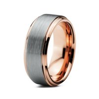 Wholesale Nice Wedding Rings For Men - Hot Selling 2016 newest tungsten ring rose gold plated tungsten wedding ring 8mm for men and 6mm women nice ring