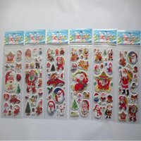Wholesale kids 3d craft for sale - Group buy Party Supplies Stars phone Santa Claus D PVC Puffy Anime Cartoon Stickers Kids Toys Cartoon Craft Classic Children s toys Christmas