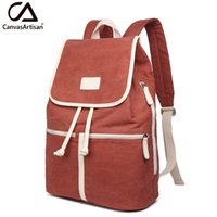Atacado- Canvasartisan Top Quality Women Canvas Travel Backpack Casual Back Bag Schoolbag Mochilas Mochilas Femininas Grande Capacidade