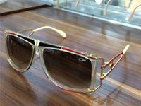 Wholesale Rectangle Glass Crystal - Cool CAZALS 866 SUNGLASSES LEGEND CRYSTAL RED BLACK GOLD Germany rare sunglasses HipHop Brand New with Box