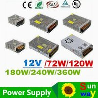 Wholesale 12v 25a Power Supply - CE ROHS UL CSA SAA + 12V 6A 10A 15A 20A 25A 30A Led Transformer 70W 120W 360W Power Supply For Led Modules Strips