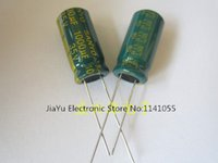 Wholesale Capacitor Sizing - Wholesale-35V 1000UF 1000UF 35V power supply special high-frequency crystal 200pcs pack Size:10*20