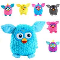 jouets élves achat en gros de-Nouveaux jouets interactifs en peluche phoebe 6 couleur électrique animaux hibou elfes jouets en peluche enregistrement jouets parlant cadeaux cadeaux boom