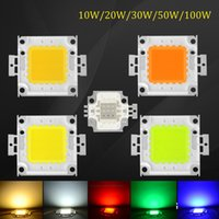 Wholesale Epistar Chip Led Light - 2016 Latest RGB Led Chip Light High power 10W 20W 30W 50W 100W Integrated COB Led Beads Epistar SMD For Spot light Floodlight