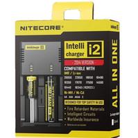 geführtes kleinpaket großhandel-Heiß! Nitecore I4 I2 Digicharger LED-Anzeige Batterieladegerät Universal NiteCore Ladegerät Ladekabel Retail-Paket