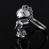 Wholesale Honda Rings - Top Fashion Asimo Robot key chains keychain key holders key ring for honda auto car styling free shipping