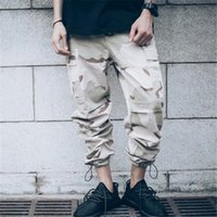 Wholesale Tactical Desert Pant - hip hop clothing overalls kanye west fashion joggers mens baggy tactical camo cargo pants Full Length Desert camouflage