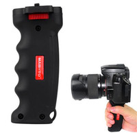 Wholesale Dslr Camera Grips - Grip Handheld Wide Platform Pistol Grip Camera Handle with 1 4 Screw for SLR DSLR DC Canon Nikon Sony Tripod