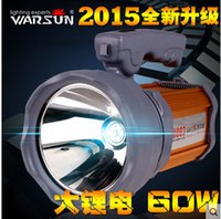 Wholesale Charging Lights Long Range - Wholesale-Warsun Flashlight Charging Searchlight 50w ultra portable LED 45w long-range remote hunting Striker Lantern Light