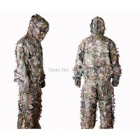 Wholesale Ghillie Suit Camo - Wholesale-High quality bionic hunting ghillie suit 100% real remington 3d camo clothing camouflage suits jungle woodland sniper