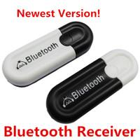 tablet çıktıları toptan satış-Kablosuz Bluetooth V4.0 USB Müzik Alıcısı Çift Çıkış Dongle Mini Taşınabilir 3.5mm AUX Araç Kiti Ses Adaptörü için Akıllı Telefon Tablet PC