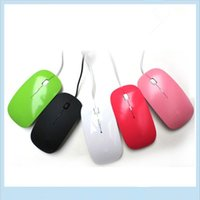 Wholesale Notebook Pc Apple - Super Slim USB 1600DPI Wired Optical Mouse Mice 4 For Apple For Macbook For MAC Laptop PC Notebook Universal