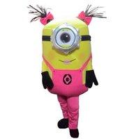 Wholesale Mascot Character Minion - 2017 New Arrive Minions Mascot Costume Adult Character Costume Mascot Costume Free Shipping