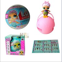 Wholesale Wholesalers For Wrapping Paper - LOL toys Surprise DOLLs Dress Up Toys baby Tear open change egg LOL SURPRISE DOLL Unpacking Dolls can Spray for Girls gift DHL