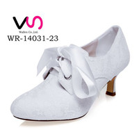 Wholesale Ivory Bow Kitten Heels - 6 cm High Ivory Color Elegant Nice Lace Bootie Bridal Shoes Wedding Dress Shoes Handmade Shoes Evening Shoes Prom Party Shoes Size 42