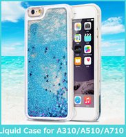 Wholesale Galaxy Ace Bling - Fashion Case For Samsung Galaxy J1 ACE J2 3 5 7 J120 J510 J710 A310 A510 A710 A9 A910 Dynamic Liquid Bling Star Phone Cover