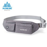 Großhandel-AONIJIE Laufen Mini Waist Wallet Geldbörse Ultra-Thin Damen Herren Wasserdicht Outdoor Radfahren Sport Reisen Personal Security Body Bag