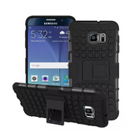 Heavy Duty Rugged Double couche 2in1 Housse antichoc avec béquille pour Samsung galaxy S4 S5 S6 bord note3 note4 note5 A5 A7 A8 (noir)