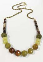 Wholesale Glass Bead Tubes - Multi semi stones beaded necklace fire agate stone necklace green aventurine stone necklace tube agate beads necklace black diamond glass