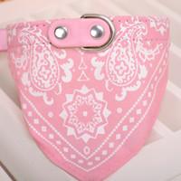 Wholesale Pink Bow Scarf - Pet Collar Neckerchief 1.5 CM Six Color Cute Dog Cat Pet Puppy Adjustable Bandana Triangle Scarf