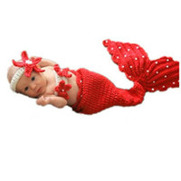 Wholesale Crochet Minnie - 2017 Baby Girls Boy Newborn Knit Crochet Mermaid Minnie Clothes Photo Props 2017 New Costumes wholesale