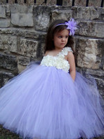 Wholesale Junior Dancing Dress - Flower Girl Dresses For Junior Bridesmaid Princess Kids Pageant Party Dance Wedding Birthday Gown Girl Dresses Pageant Ball Gowns For Girls