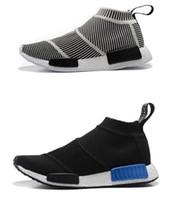 Wholesale Mens Sport Toe Socks - Wholesale NMD_CS1 PK Runner Sock Nmd CS 1 Mens Women Shoes Fashion City Sock Cs1 Primeknit Grey Sports Sneakers boost eur 36-44