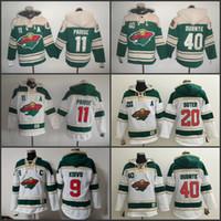 d181c32b7 Men s Old Time Hockey 2016 Stadium Series Minnesota Wild 40 Devan Dubnyk 11  Zach Parise 20 Ryan Suter 9 Mikko Koivu hoodies