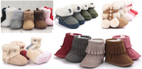 Wholesale Cute Boots For Baby Girls - Wholesale Newborn boots Fashion Christmas baby shoes Prewalker boots Comfortable outdoor toddler shoes Warm and Cute (40 styles for choose)
