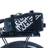 Wholesale Bike Back Seat Bag Pannier - ROSWHEEL 5L Bicycle Carrier Bag Rack Trunk Bike Luggage Back Seat Pannier Outdoor Cycling Storage Handbag Shoulder Strip