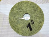 Wholesale Diamond Floor Pads - 17 inch Diamond Encrusted Pads to Hone and Polish Stone Floors grit 1# 2# 3# at same price free shipping