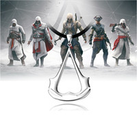 2016 New Assassin's Creed Hidden Blade Cosplay Jewelry Chain Collier de corde Assassins Creed 3 Costume Jewelry Pendant Punk