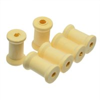 Wholesale Craft Wooden Spools - Sewing Supplies 40PCs Natural Cylinder Craft Wooden Spools 27mm x16.7mm For DIY Tool Accessories
