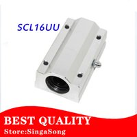 Wholesale 16mm Linear Ball Bearings - Wholesale- 1pcs lot SC16LUU SCS16LUU 16mm Linear Ball Bearing Block CNC Router pillow linear guides