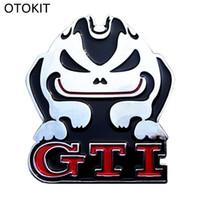 Wholesale Gti Logos Sticker - Cool Car Decoration Emblem Badge GTI Logo Metal 3D Car Sticker for VW All Series BMW M3 M5 X1 X3 X5 X6 E36 E39 E46 E30