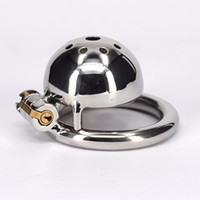 Wholesale Sm Small Chastity - Metal Chastity Device Sex Toy For Man Stainless Steel SM Toys Adult Male Bondage Small Cock Cage Fetish Product