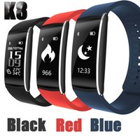 K8 Pulsera Inteligente Wristbands Bluetooth reloj Impermeable Passometer Sleep Tracker Función para android ios pk fitbit