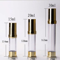 Wholesale Golden Vacuum - 15ML 20ML 30ML Airless Pump Bottle with Golden Cap, Cosmetic Essence Packing Bottle, Gold Vacuum Bottle F20172011