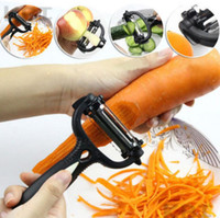 Wholesale Peeler Peel - 3 In 1 360 Degree Rotary peeled plane Kitchen Peeling tools practical Flaking machine Vegetable Fruit Peeler Grater Cutter Slicer KKA2311