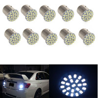 Wholesale Rear Stop Brake Lights - new arrival!10x led Tail Break Stop Turn Signal Light 132LM White 1157 BAY15D 22 SMD LED Bulb CLT_02S